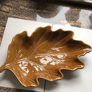 Pottery Barn Leaf Platter Retired design